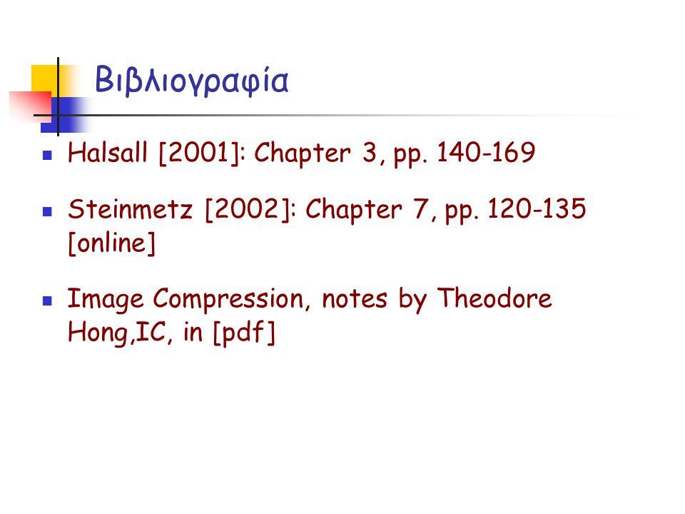 Βιβλιογραφία Halsall [2001]: Chapter 3, pp. 140-169